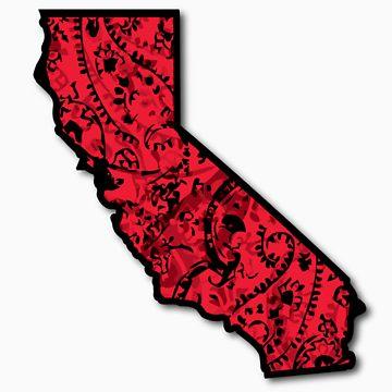 360x360 Cali With Red Bandana Unisex T Shirt By Sheaclothing Redbubble
