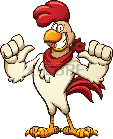 365x450 Cool Cartoon Chicken Vector Clip Art Illustration With Simple