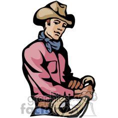 236x236 Royalty Free A Cowboy Wearing A Red Bandana Tipping His Cowboy Hat
