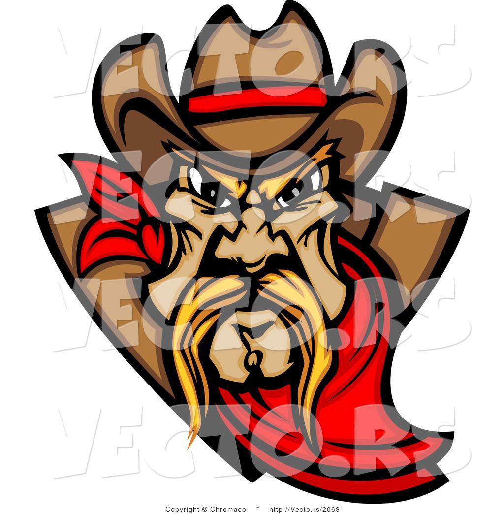 1024x1044 Vector Of A Dominant Cartoon Cowboy Mascot Wearing Red Bandana