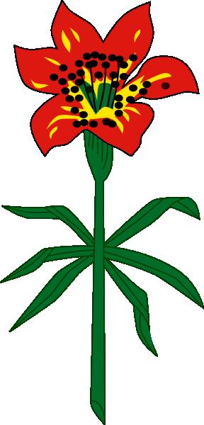 288x600 Western Red Lily Saskatchewan Clip Art