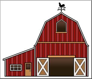 304x262 Clip Art Barn Color 2 I Abcteach
