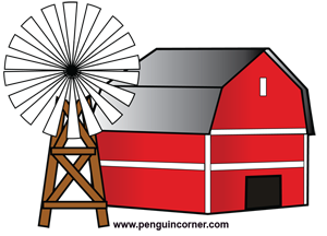 300x216 Clipart Of A Red Barn Image
