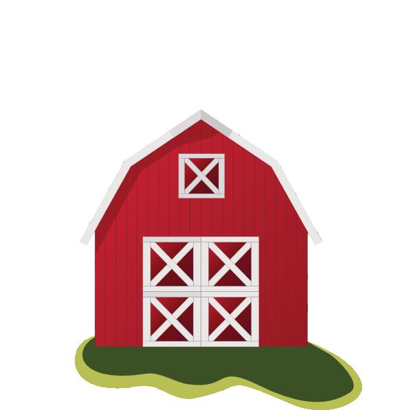 588x597 Red Barn Clip Art