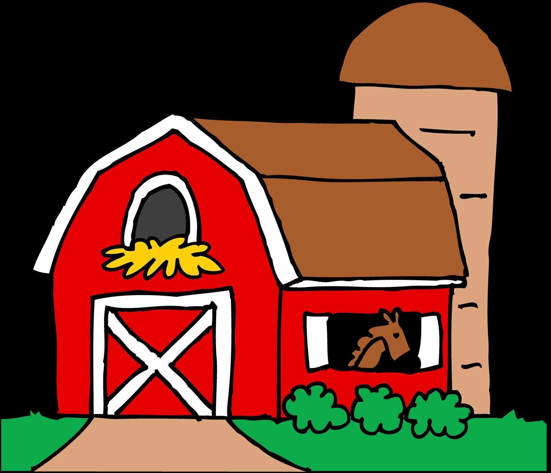 1900x1631 Red Farmhouse Clipart Cute Farm With Barn And Silo Free Clip Art