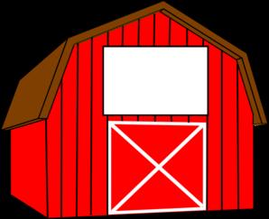 298x243 Red White Barn Clip Art