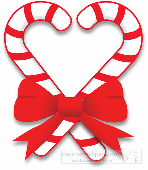 479x550 Christmas Clipart Two Candy Canes With Red Bow Clipart 5