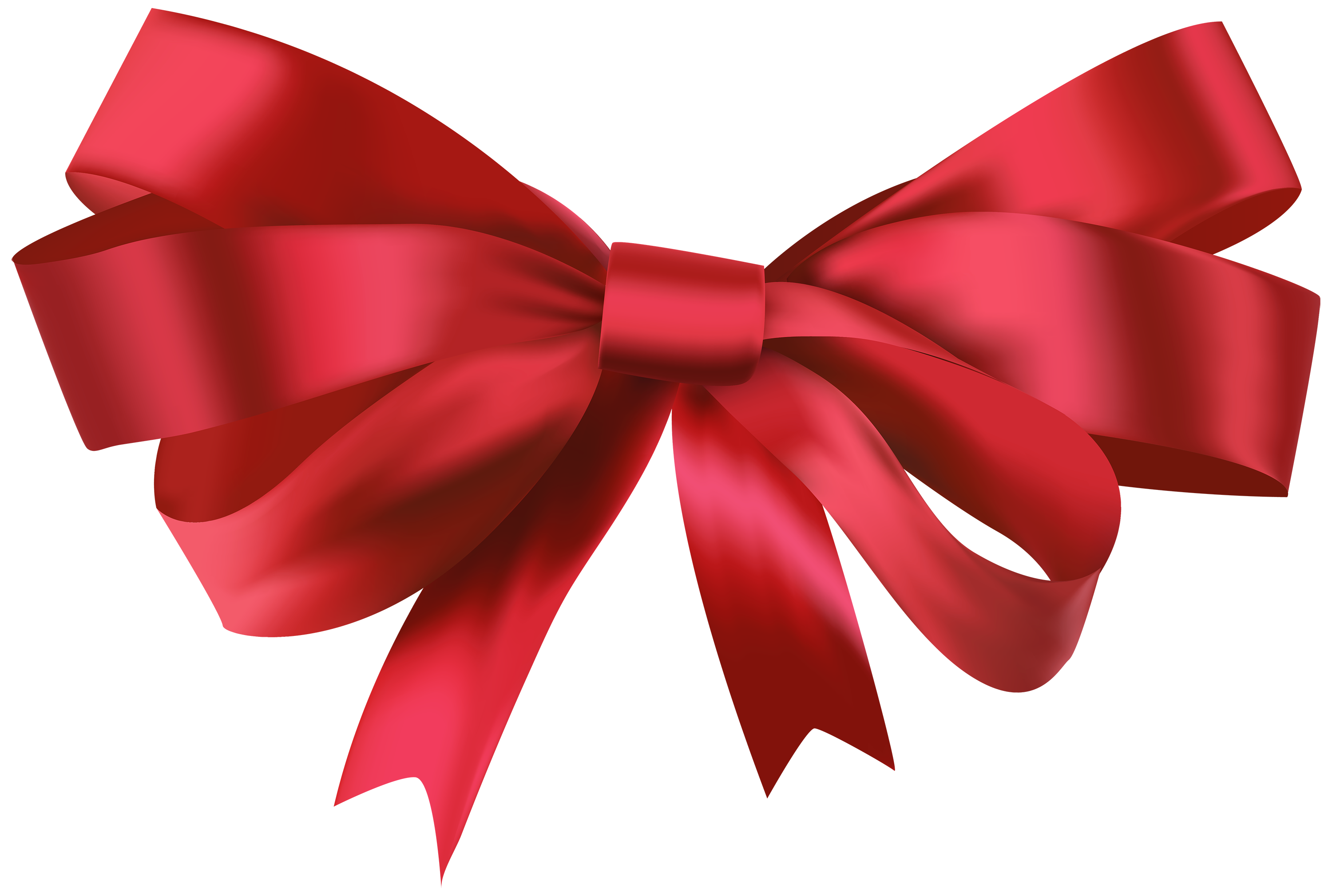 3000x2019 Red Bow Png Clipart