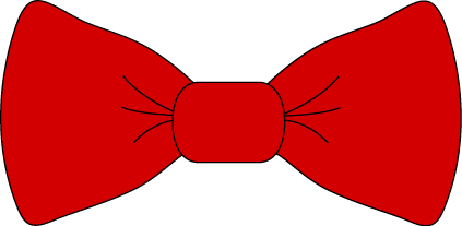 423x207 Red Bow Tie Clip Art