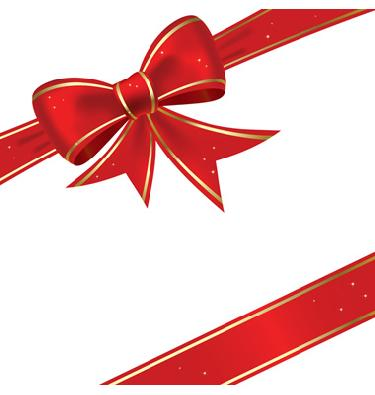 375x395 Red Christmas Bow Clipart