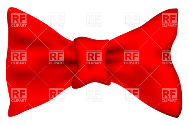 600x400 Red Bow Tie Royalty Free Vector Clip Art Image