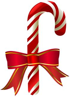 236x327 Candy Cane With Red Bow Png Clip Art Image Christmas Clipart