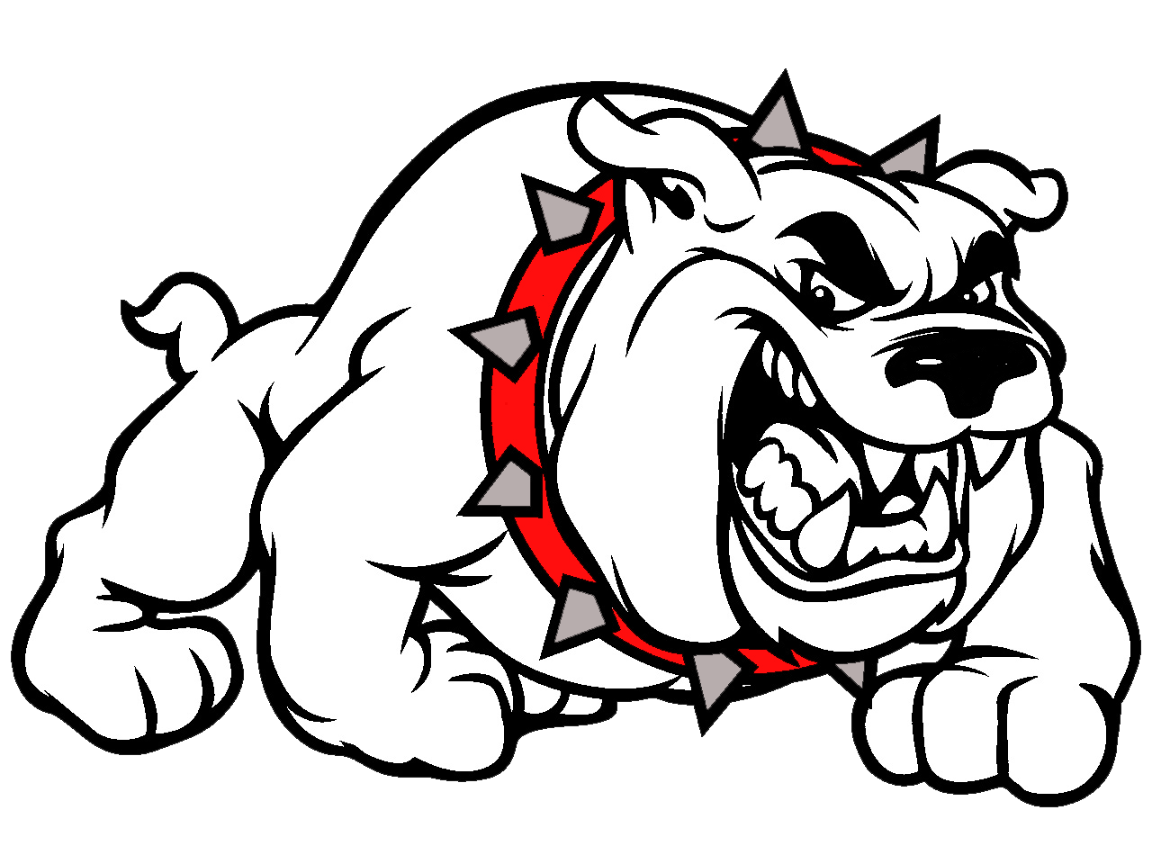 1280x960 Bulldog Clipart Red
