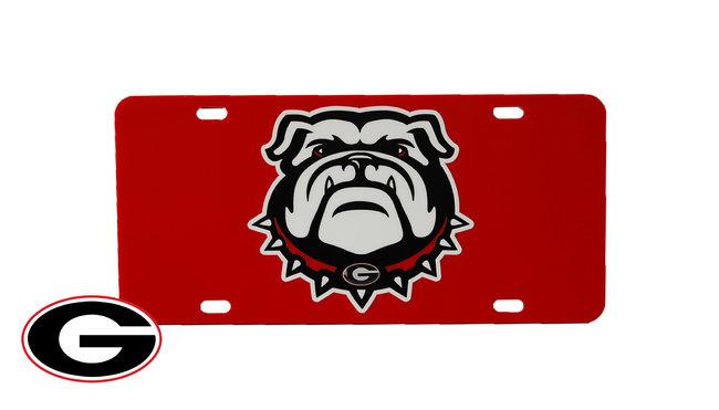 650x371 Georgia Bulldogs License Tags Georgia Bulldogs New Bulldog Logo