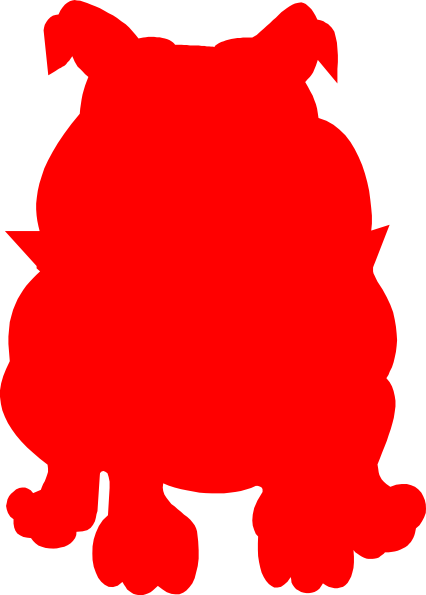 426x595 Red Bulldog Clip Art