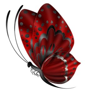 Red Butterfly Cliparts