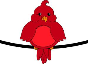 300x219 Cardinal Clipart Red Robin