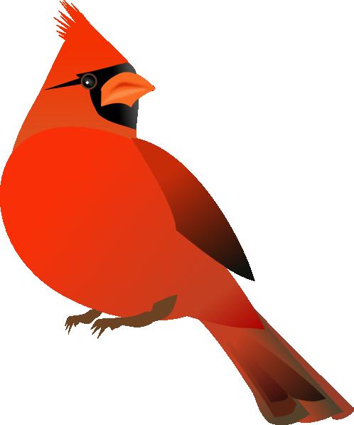 498x597 Red Cardinal Clip Art