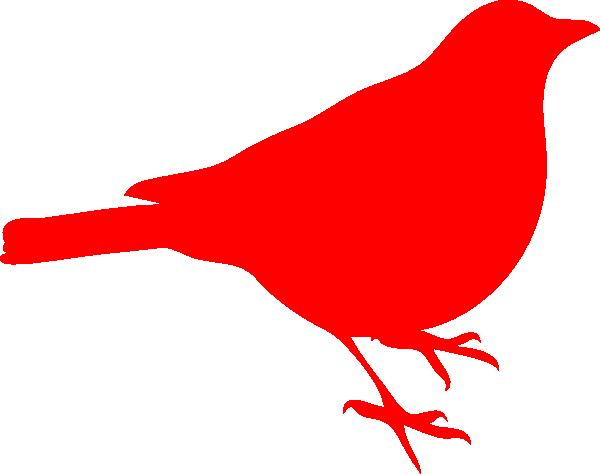 600x474 Bird Clipart Red