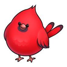 220x220 Cardinal Clipart Cute