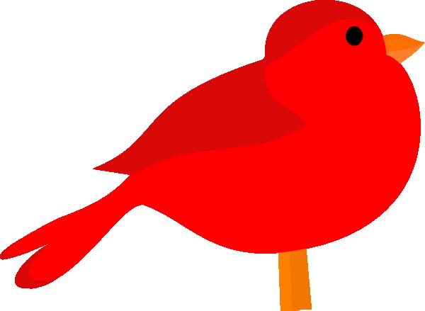 600x439 Red Bird Clip Art