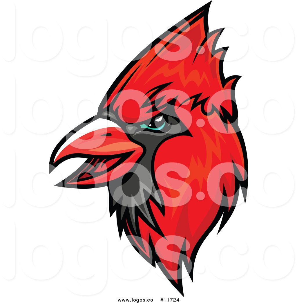 1024x1044 Royalty Free Vector Of A Red Cardinal Mascot Logo By Vector