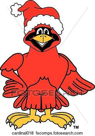 329x470 Stock Illustration Of Cardinal Wearing Santa Hat Cardinal018