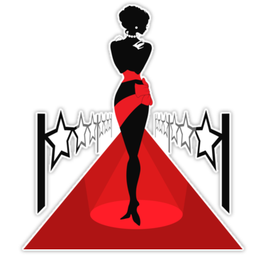 375x360 Eszadesign Woman Silhouette On A Red Carpet With Lightes. Isabelle