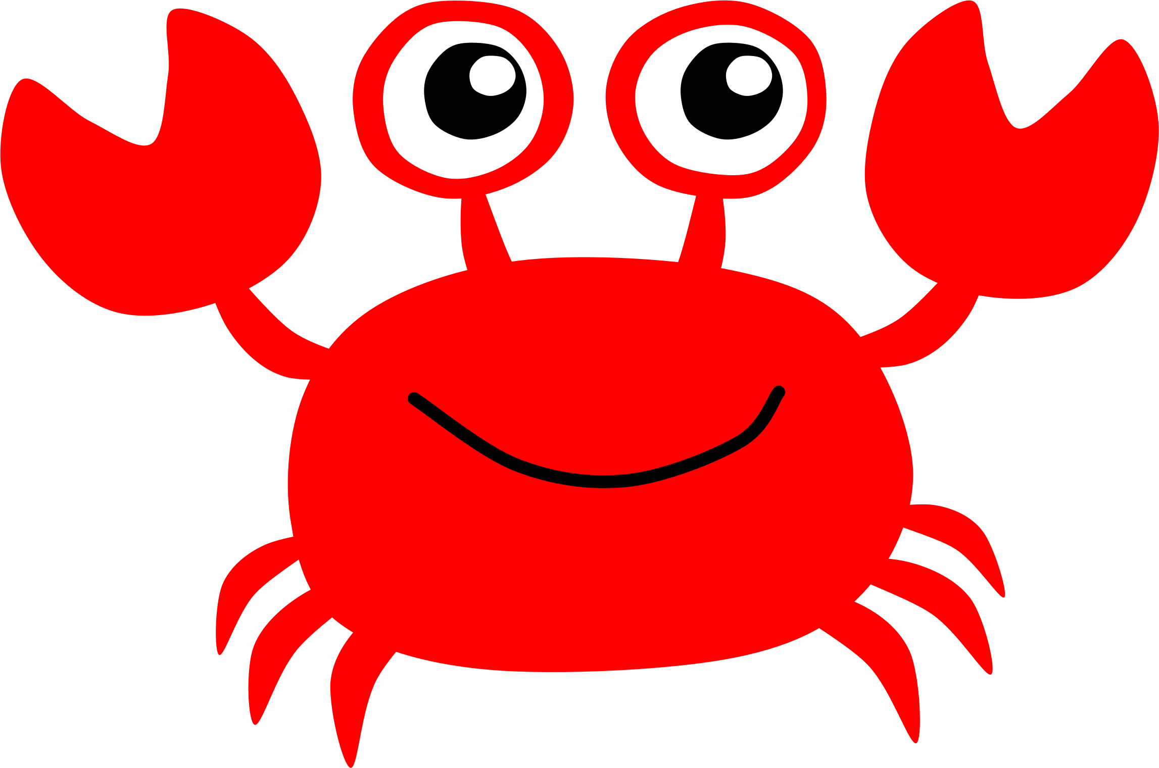 2294x1521 Crab Clipart Red Crab