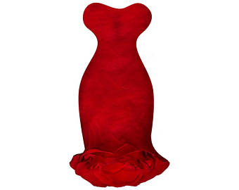 340x270 Wedding Dress Digital Vector Clip Art Wedding Gown Clipart