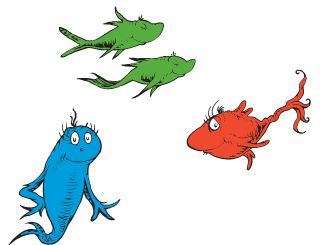325x245 One Fish Two Fish Red Fish Blue Fish Clipart