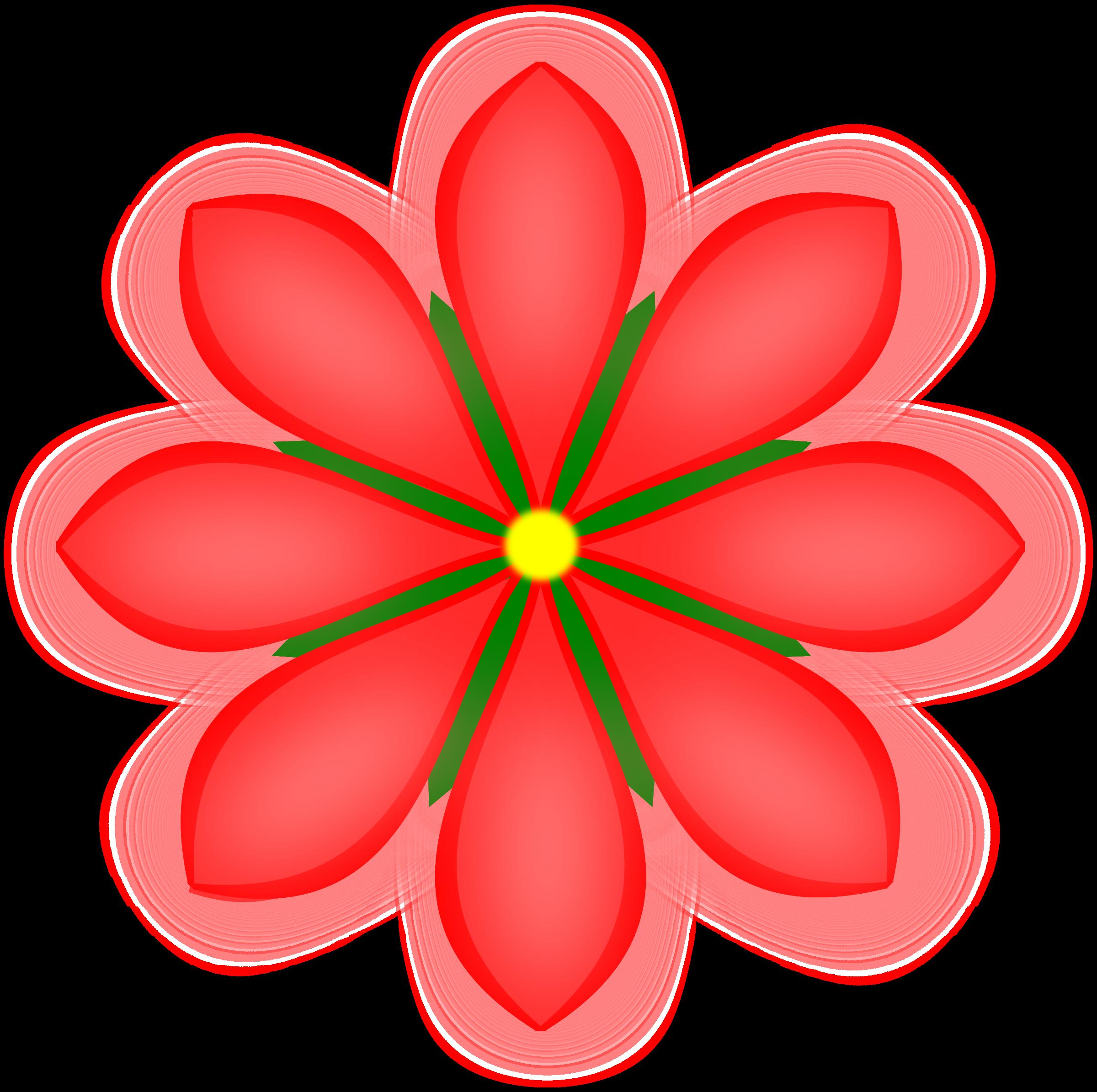 2400x2390 Petal Clipart Red Flower