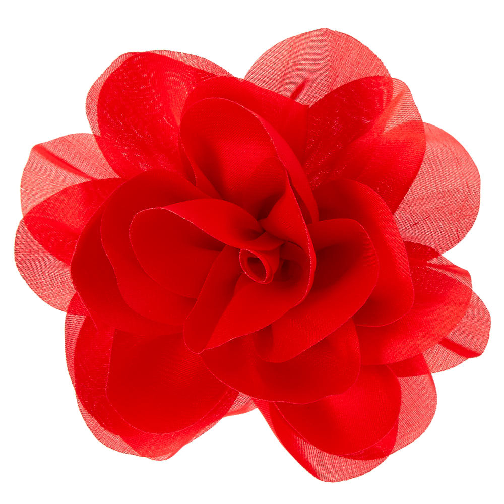 1000x1000 Red Chiffon Flower Hair Clip Icing Us