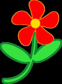 219x297 Red Flower Cute Clip Art