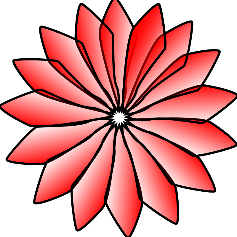 800x800 Red Flower Free Vector 4vector