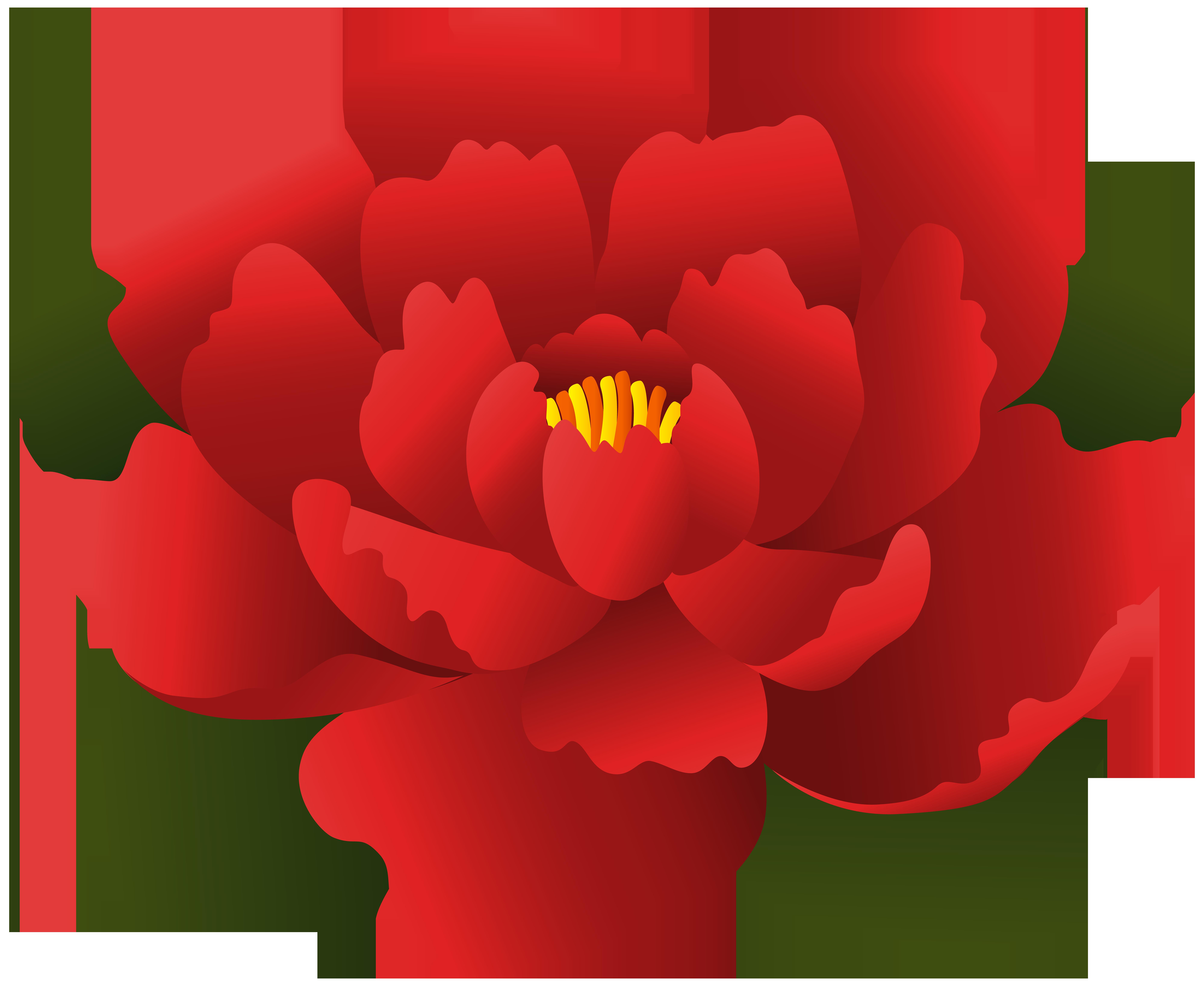8000x6552 Red Flower Transparent Clip Artu200b Gallery Yopriceville