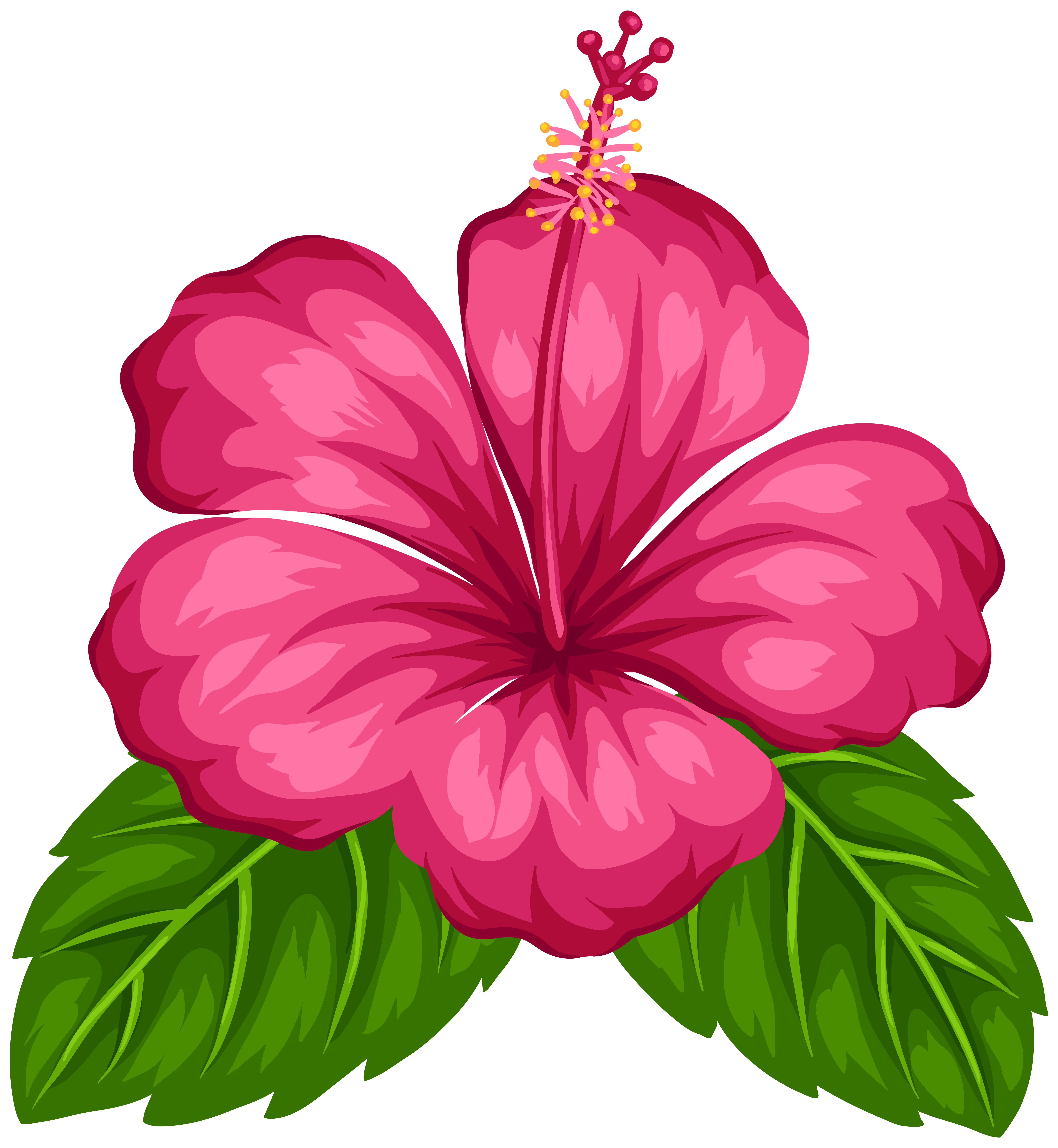 7375x8000 Red Flower Clipart Catoon
