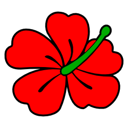 250x250 Red Hibiscus Flower Clip Art Free Borders And Clip Art