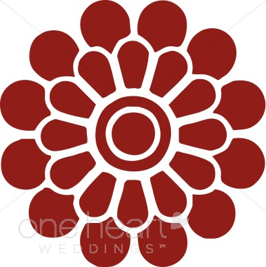 386x388 Red Modern Flower Clipart Clipart Color Variations
