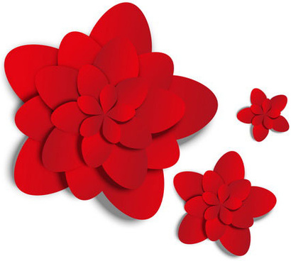 410x368 Red Flower Clip Art Free Vector Download (214,453 Free Vector)