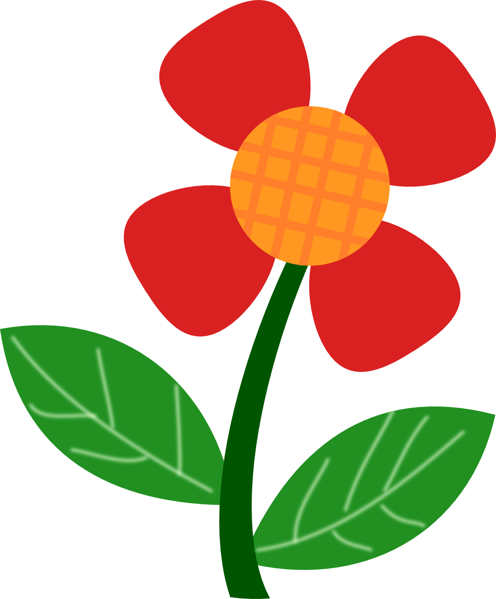 999x1207 Red Flower Clipart 5