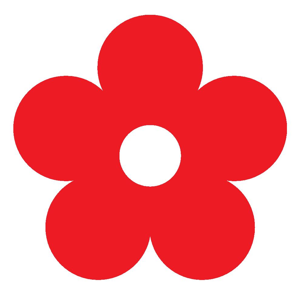 999x990 Red Flower Clipart Kid