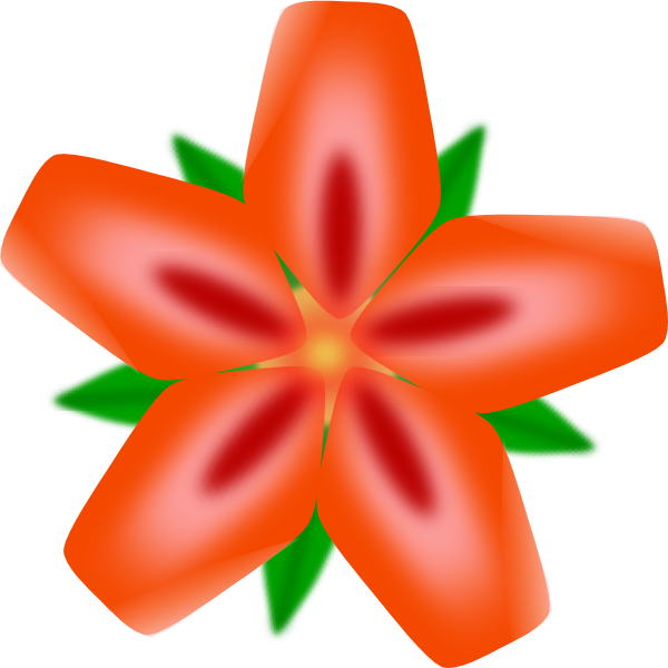 600x600 Atulasthana Red Flower Clip Art