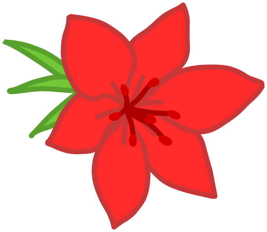 900x782 Floral Clipart Red