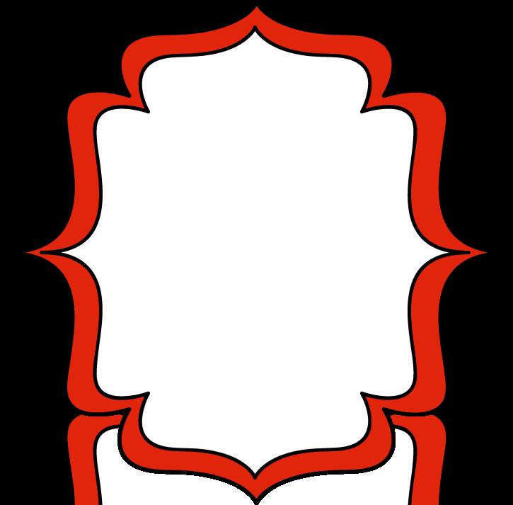 725x713 Red Double Bracket Frame