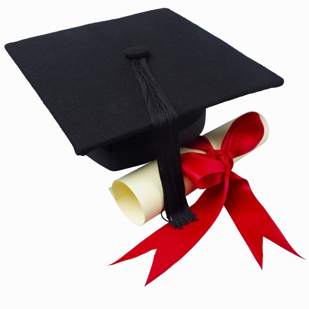 1024x1024 Graduation Cap And Gown Clipart