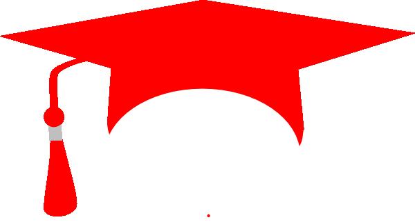 600x322 Red Graduation Cap Clip Art