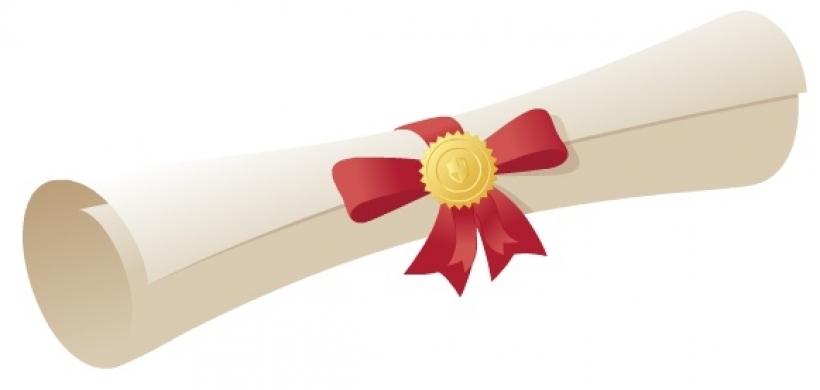 820x390 Clipart Graduation Scroll