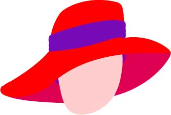 350x235 Clipart Hat Red