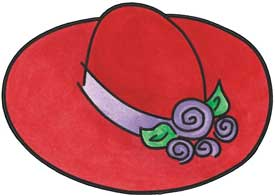 275x196 Hat Red Hatters Clipart